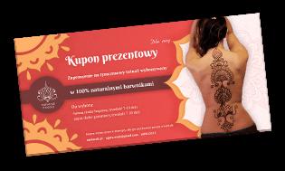 kupon prezentowy na malowanie henną