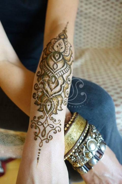 inspiracje henna wzory mehendi na przedramieniu