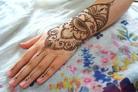 inspiracje henna wzory mehendi reka