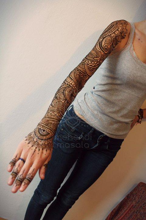 mehendi wzory inspiracje henna tatuaże z henny wzory rękaw wzory indyjskie