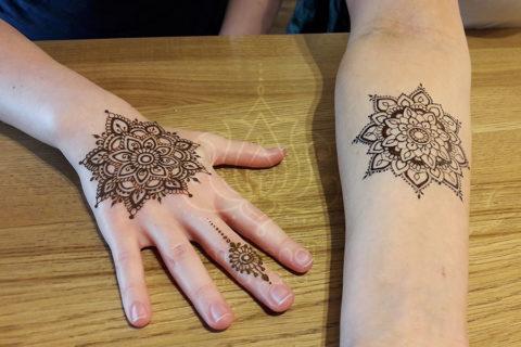 wzory mehendi inspiracje henna mandala