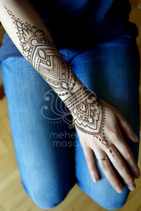 inspiracje henna wzory mehendi na dłoni