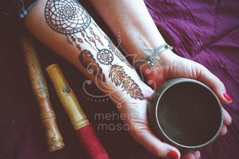 inspiracje henna wzory mehendi łapacz snów