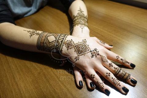 inspiracje henna wzory mehendi marokanskie