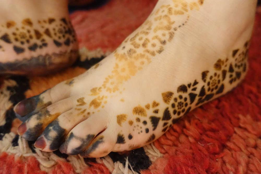 henna na stopach w maroko