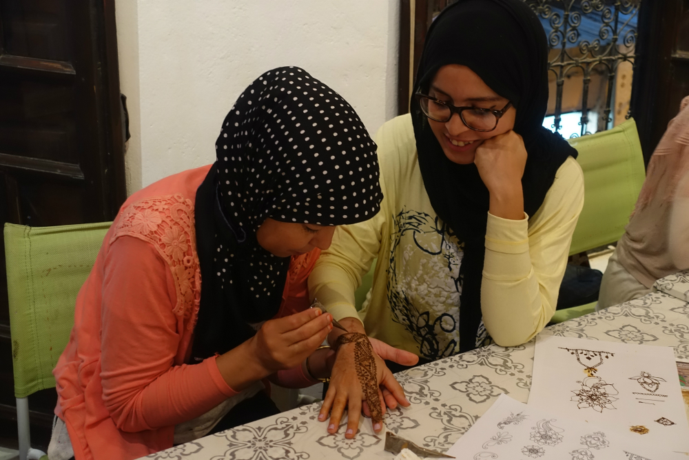 warsztaty malowania henną w marakeszu