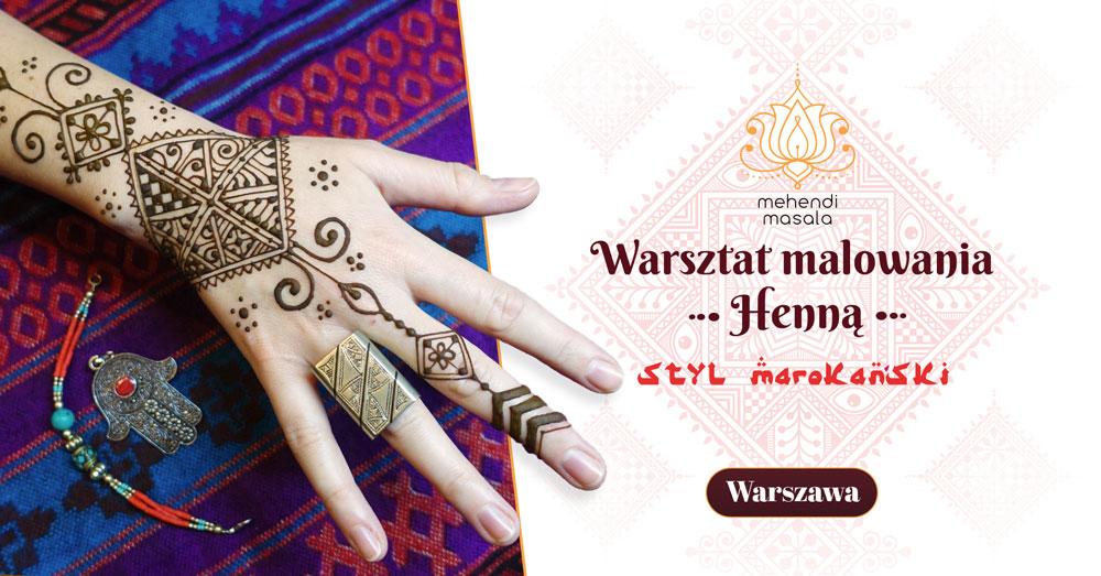 warsztat malowania henną w stylu marokańskim