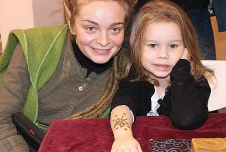 tatuaż z henny dla dzieci