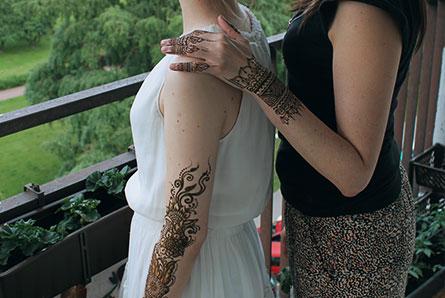 malowanie henną na prezent
