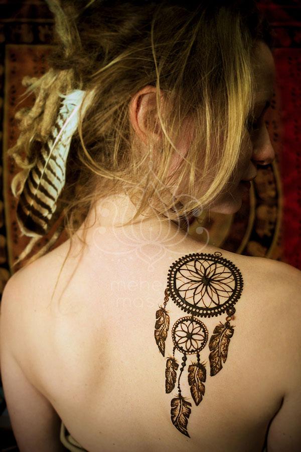 Tatuaż Z Henny Wzory Lotos Na Plecach Wzory Mehendi łapacz