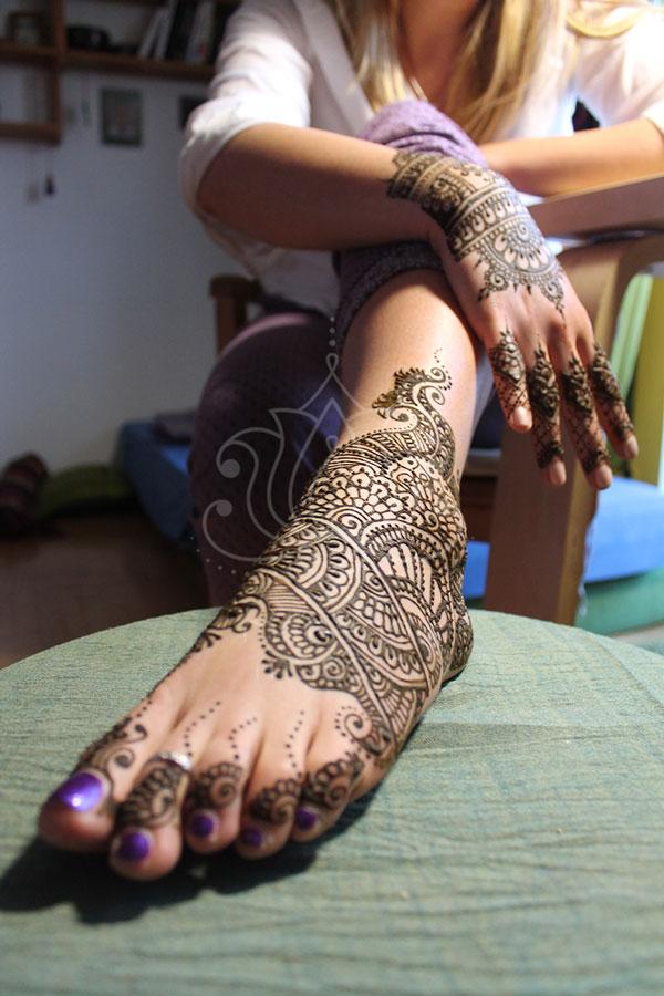 Tatuaże Z Henny Wzory Na Nogach Wzór Henna Na Stopie I Dłoni