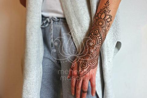 inspiracje henna wzór mehendi na przedamieniu