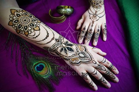 wzory mehendi inspiracje henna na dłoniach