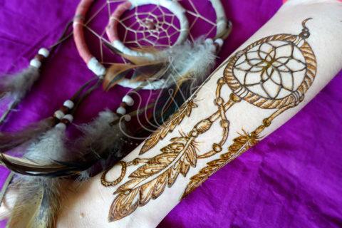 inspiracje henna wzory mehendi łapacz snów 2