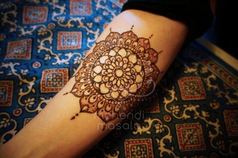 inspiracje henna wzór mehendi mandala