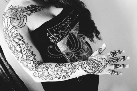 mehendi wzory inspiracje henna tatuaże z henny wzory rękaw