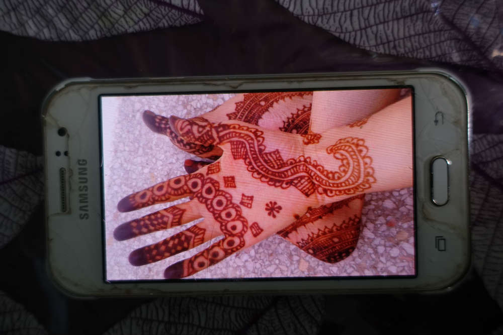 henna sahara design style