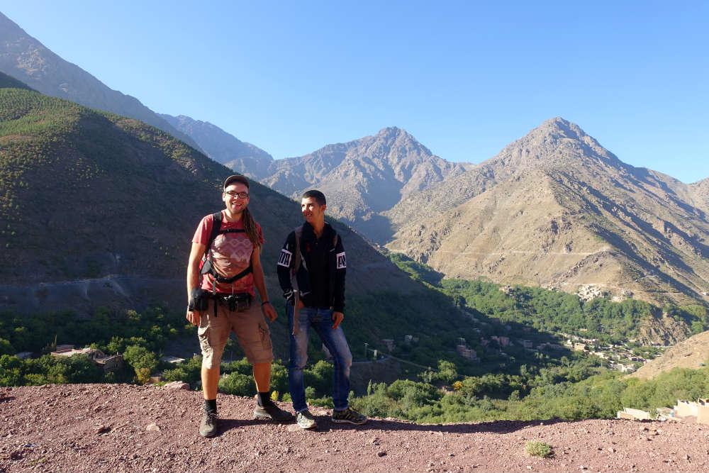 Mateusz i nasz przewodnik Hamza