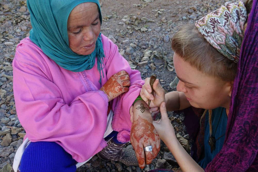 malowanie henną w maroku