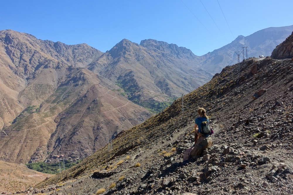Agata na przełęczy w Wysokim Atlasie