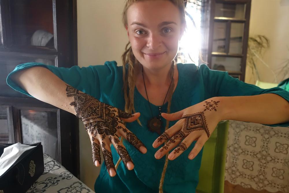 po malowaniu w henna cafe