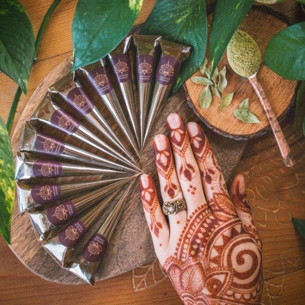 henna do malowania ciała 12 rożków