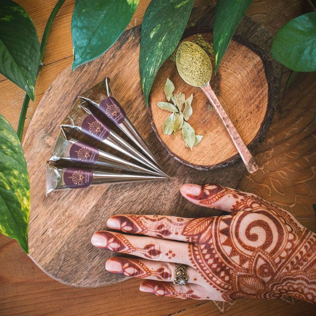 Zestaw 4 rożków z henną