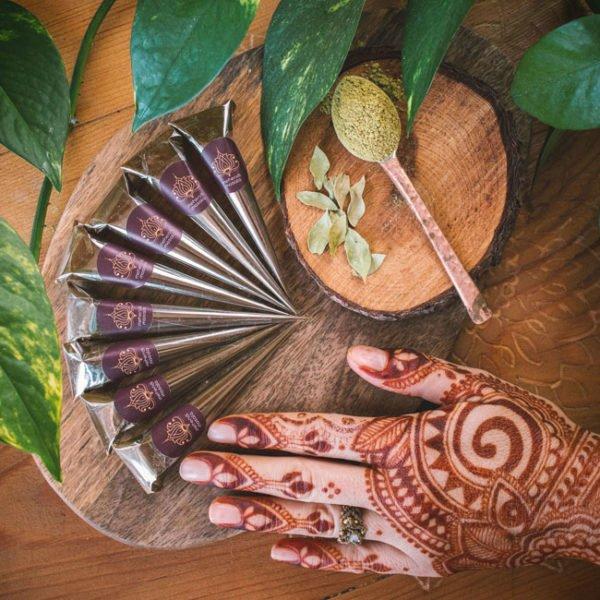 henna do malowania ciała 8 rożków