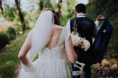 henna ślubna plecy