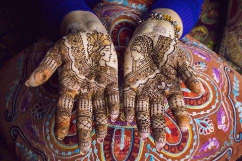 henna ślubna wzór indyjski