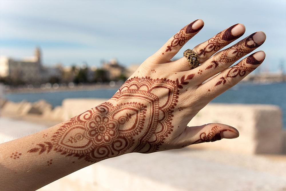 henna w proszku kolor