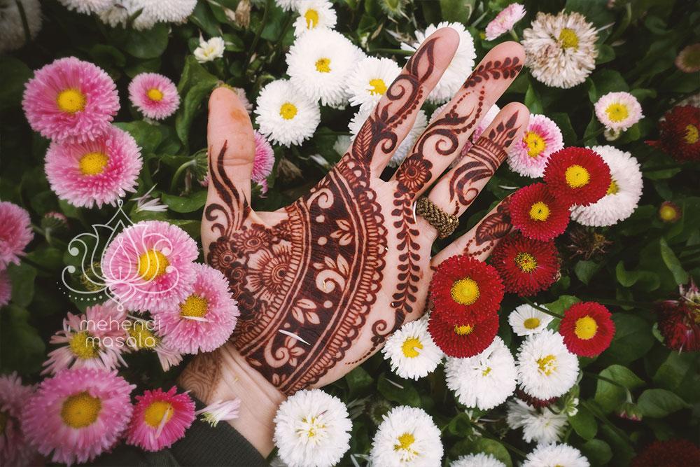 pielęgnacja henny kolor wewnątrz dłoni